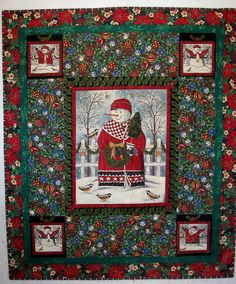 Snowman Christmas Patchwork Quilt Embellished by mkhquilts on Etsy,