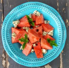 watermelon and blue cheese salad