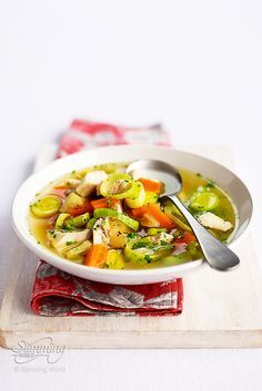 This traditional Scottish soup is packed with nutritious vegetables and chicken and is perfect for a healthy, warming lunch or dinner. Cock-a-leekie soup dates back to the 16th century and takes its sweetness from the chunky carrots. We can't get enought! http://www.slimmingworld.com/recipes/cock-a-leekie-soup.aspx#sthash.AH22HLRI.dpuf