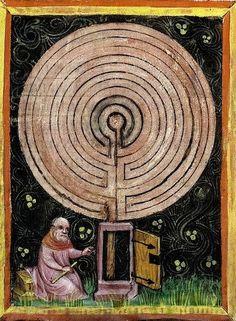 Rabano Mauro  Il Labirinto in The Rerum Nauturis  1425