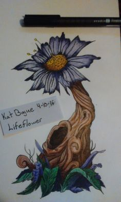I wanted to do something a little bit different from normal. Maybe a game art concept? I named it Lifeflower, I might be doing a background for it too. smile emoticon Kat Bogue 4-10-16