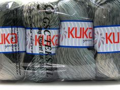 Grå Striper 100% ull  Magic Wool DeLuxe White Grey Blue Black