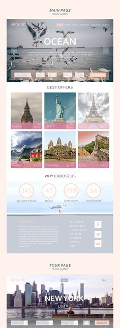 Around - travel agency web project on Behance