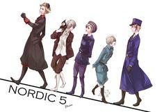 Hetalia (ヘタリア) - The Nordic 5 (北欧ファイブ) -「【イラリク】walk on!」/「志帆」のイラスト [pixiv]