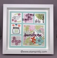 Gorgeous Spring Frame - part of my ongoing frame classes!  #stampinbj.com