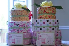 twin diaper cakes