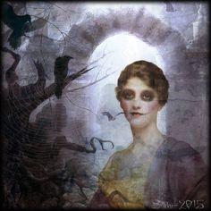 "Digital Art by *Silkku* ""Haunted mansion"" silkkus.blogspot.fi"