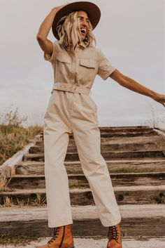 Detail Utility Jumpsuit - Thanksgiving Day Outfit Inspiration | ROOLEE