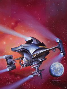 The Vault of Retro Sci-Fi — siryl: Cover art by Alan Gutierrez for the 1985...