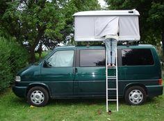 A comfortable Volkswagen van and a cozy Autohome roof top tent...