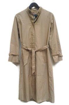 f4b3fdc0957070 Vintage 80s Trench Coat Mac beige Brown 1970s by VirtageVintage Line  Branding