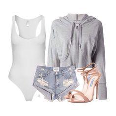 American Apparel bodysuit ($47), Adidas by Stella McCartney cropped hoodie ($180, BooHoo have similar), One Teaspoon shorts ($135) and Prada heels (sold out) xx #Padgram