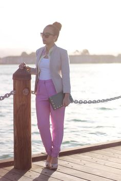 elegant yet stylish and fun - who knew you could have an outfit that's all 3? #perfectpastels