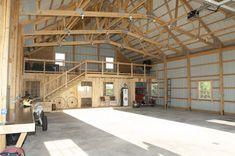 "4067 - Morton Buildings  Like the attic storage area above the ""apartment"" space. #MetalBuildings"