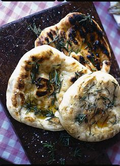 making bread - grilled flatbreads with rosemary oil | Jamie Oliver | Food | Jamie Oliver (UK)