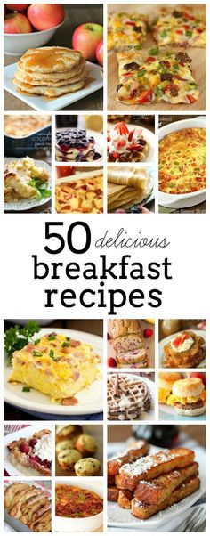50 delicious breakfast recipes from TheHowToCrew.com