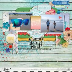 Summer | The Lilypad Digital Scrapbooking Layouts, Scrapbook Pages, Photography Challenge, Dee Dee, Layout Inspiration, Good Times, Storytelling, Summer, Design Inspiration