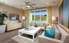 Brightside at Bay Meadows Plan 4 Living Room | by SheaHomesNoCal