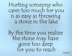 Hurting someone who cares - Ajaytao