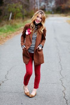 red, stripes, and the coat