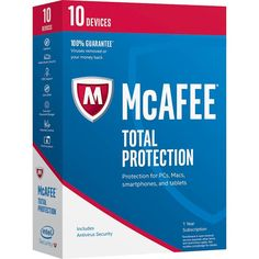 McAfee Total Protection (10 Devices) (1-Year Subscription) - Android|Mac|Windows|iOS, 8136101