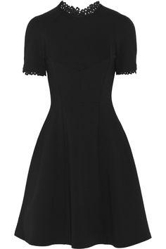 Erdem Armel lace-trimmed stretch-jersey crepe dress NET-A-PORTER.COM