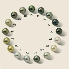 Tahitian pearls colour chart