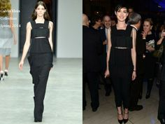 Anne Hathaway In Calvin Klein Collection - The Great American Songbook After-Party. Re-tweet and favorite it here: https://twitter.com/MyFashBlog/status/433400776455491584/photo/1