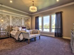 Transitional Master Bedroom with Restoration Hardware CHESTERFIELD FABRIC PANEL…
