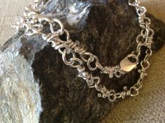 Handmade Heavy Sterling Artisan Chain Necklace by stoneandsterling,