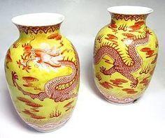 Par china antigua de la porcelana