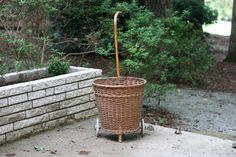 Vintage Rolling French Market Basket / Rolling by theretrobeehive, $125.00