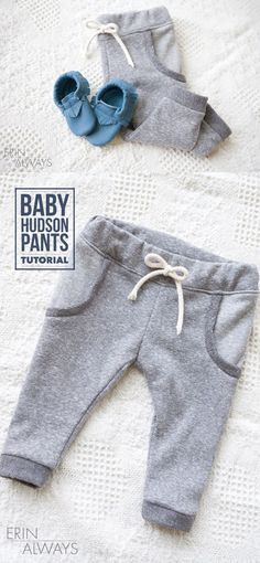 Baby Hudson Pants Tutorial - The Sewing Rabbit - Baby Hudson Pants Tutorial – The Sewing Rabbit How to sew baby pants, a great baby sewing tutorial by Erin Always Baby Sewing Tutorials, Sewing Projects For Beginners, Sewing Patterns Free, Free Sewing, Sewing Tips, Sewing Hacks, Tutorial Sewing, Sewing Ideas, Diy Tutorial