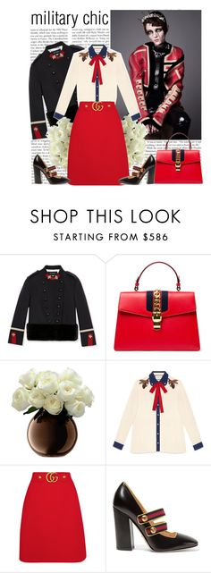 """Gucci head to toe"" by helena99 ❤ liked on Polyvore featuring Gucci, maryjanes, gucci and militaryjackets"