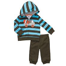 Carter's Boys Stripe Truck 2 Piece