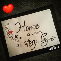 Home is where our story begins ♡ #gxartpaper #GXart