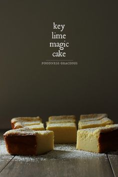 The famous magic cake with the double layer of texture. This key lime pie magic cake is filled with condensed milk and fresh key lime juice. Magic Cake Recipes, Sweet Recipes, Dessert Recipes, Lime Recipes, Recipe Magic, Just Desserts, Delicious Desserts, Yummy Food, Gateaux Cake