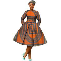 african clothing 2018 autumn women dress AFRIPRIDE full sleeve calf-length ball grown women casual dress with headscraf Short African Dresses, African American Fashion, African Fashion Designers, Latest African Fashion Dresses, African Print Dresses, African Print Fashion, Africa Fashion, Ankara Fashion, African Dress Styles