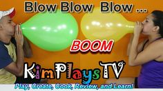 POP the Balloons by BLOWING UP Challenge Giant Balloon