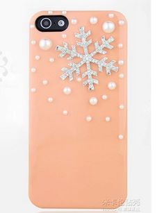 Pearl Snowflake iPhone 4 4S 5 5S Case Rhinestone iPhone Cases