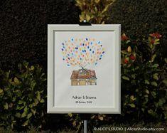 Unique and creative wedding guest book ideas  #weddings #weddingideas #uniquewedding #guestbook #fingerprintguestbook #weddinggift #thumbprintguestbook #originalart