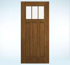 Design-Pro Fiberglass | JELD-WEN Doors & Windows Oak top 3 light 3 panel
