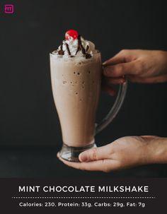 Mint Chocolate MilkShake 1 cup Chocolate Halo Top Ice cream 1 scoop ...