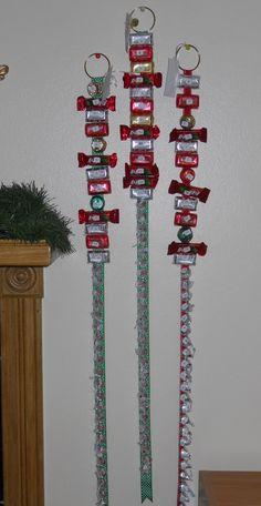 Kiss Advent Ribbon.  Good idea for multiple children. Fabulous idea for Emma when she is older!