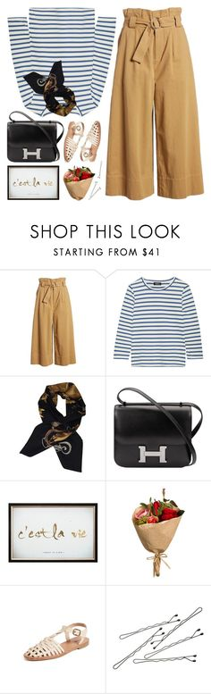 """paperbag pants"" by jesuisunlapin ❤ liked on Polyvore featuring Lush, A.P.C., Hermès, Graham & Brown, Soludos, BOBBY and vintage"