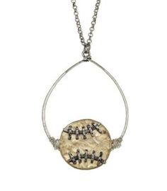 This sport hoop pendant necklace is a cute accessory for a baseball fan! Let's play ball!
