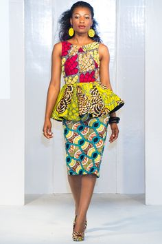 The Peplum Trend At Africa Fashion Week London ~Latest African Fashion, African Prints, African . African Print Dresses, African Dresses For Women, African Attire, African Wear, African Fashion Dresses, African Women, African Prints, African Style, African Clothes