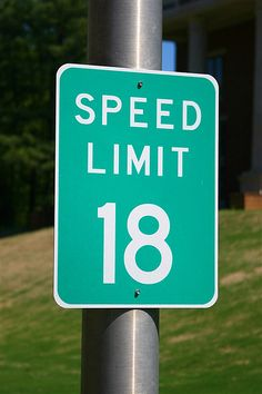 Ole Miss campus speed limit--in honor of living legend Archie Manning!