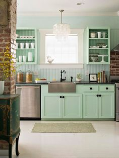 For A Quick Kitchen Update, Remove Cabinet Doors From A Few Upper Cabinets.  The Change Will Give The Room A New Look And Out In The Open Dish Storage  ...
