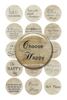 Bottle Cap Inspirational Sayings 1 Inch - Digital Collage Sheet Printable Instant Download jewelry-craft - bottlecap #5a (1.50 USD) by kybritor3kreations